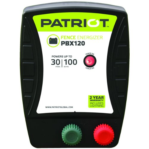 Patriot PBX120 Battery Fence Energizer, 1.2 Joule by Patriot