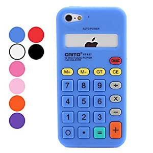 GHK - Calculator Design Soft Case for iPhone 5 (Assorted Colors) , Purple