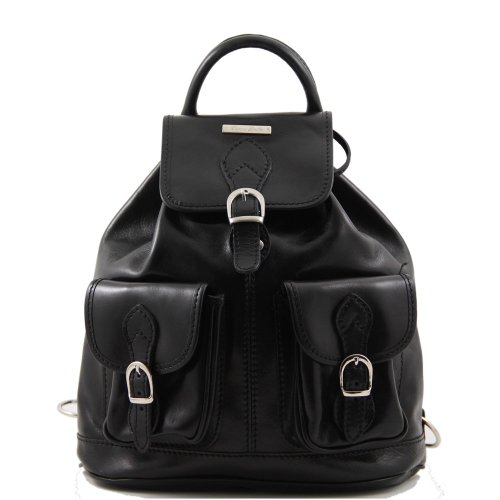 Tuscany Nero Borsa Donna Spalla Leather A rwrxXBP15q