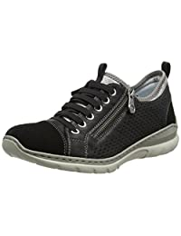 Rieker L3277 - 01 Schwarz Black (Leather) Womens Trainers