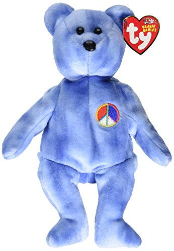 Peace Sign Teddy Bear - Ty Beanie Baby - Peace Symbol the Bear [UK Exclusive]