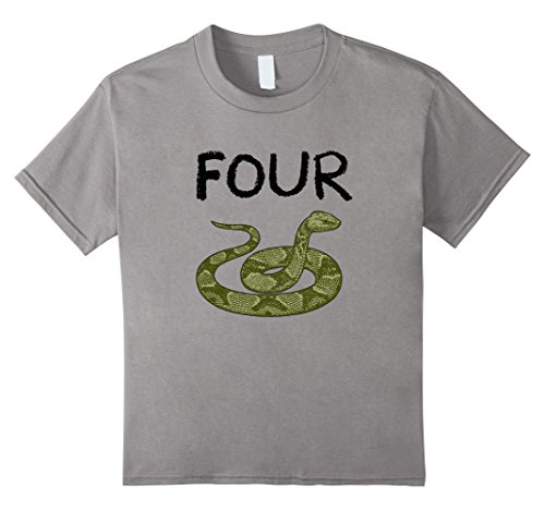 Price comparison product image Kids 4 Year Old Snake Reptile Birthday Party 4th Birthday T-Shirt