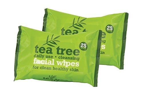 Tea Tree Gesicht Reinigung Maske Wischtücher 2x 25 Stück