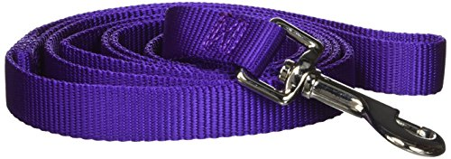 (Hamilton 3/4-Inch Single Thick Nylon Lead with Swivel Snap, 6-Feet Long, Purple )