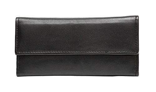 Ashlin Cashmere Ultra Soft leather - Lambskin Women's Wallet, Black [L5910-07-01] … ()