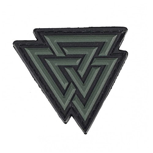 M-Tac Valknut Viking Norse Rune Morale Patches PVC Military Tactical (Olive)