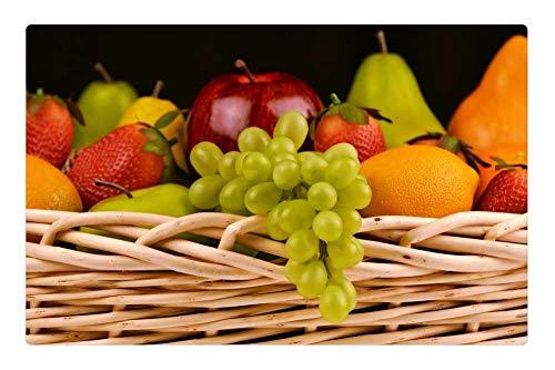 Tree26 Indoor Floor Rug/Mat (23.6 x 15.7 Inch) - Fruit Basket Grapes Apples Pears Strawberries