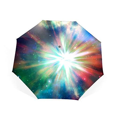 (Travel Umbrella, 8 Ribs Finest Windproof Shine Radiance Colorful Umbrella with Teflon Coating)