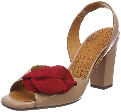 Chie Mihara Damen Br-anami 32 Sandalo Beige, Beige (maitai Tan-ante Rojo), 42 Eu