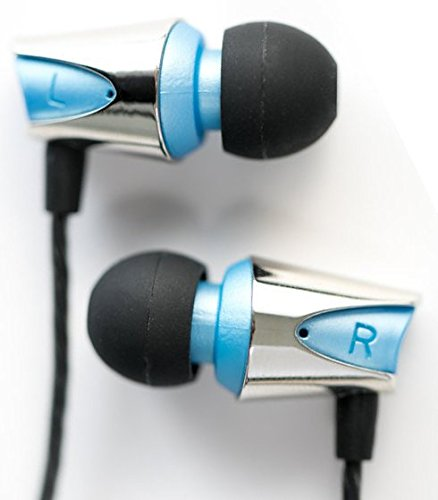Earbuds / Earphones, In-Ear Headphones with Mic : Noise Isolating Bass Driver, In-Line Microphone with Volume and Phone Controls, Best Quality IEM : the Audiophile Quicksilver