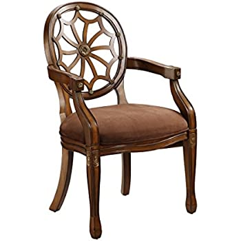 Delightful Spider Back Brown Accent Chair