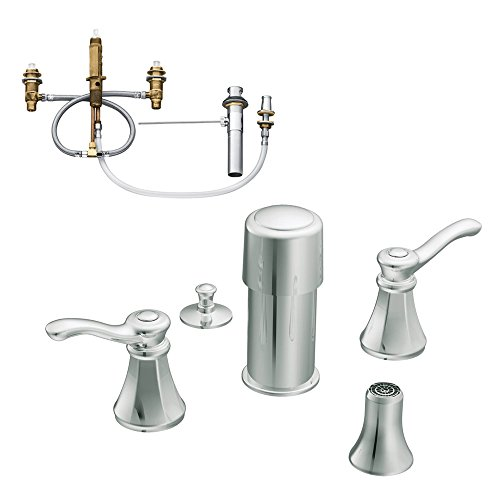 (Moen KBVE-D-T5250CR Vestige Two-Handle Bidet Faucet, Chrome)