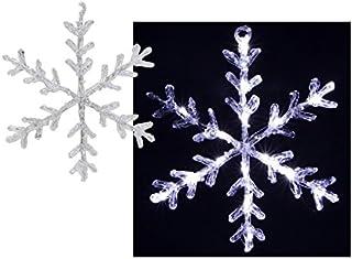 Fomax 16 LED Bianchi Fiocchi di Neve Luminoso in Acrilico