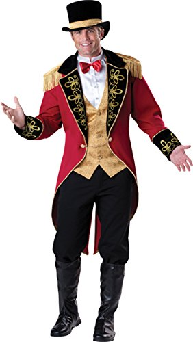 Mens Circus Lion Tamer Costume (Ringmaster Costume - X-Large - Chest Size 46-48)