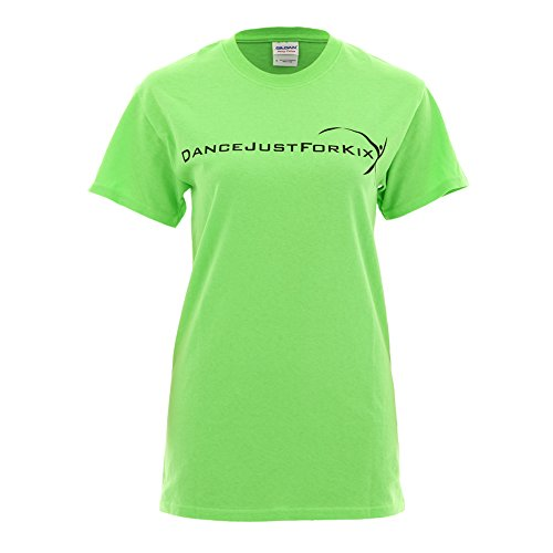 Just For Kix Dance Dancewear Dancer T-Shirt Lime Large for sale  Delivered anywhere in USA