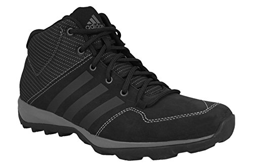 adidas Daroga Plus MID LEA - Sneakers Outdoor for Men, 50 2/3, Black