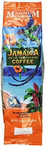 Magnum Jamaican Blue Mountain Blend Coffee, Ground, 1 Lb Bag
