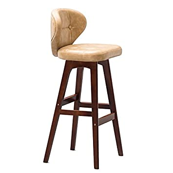 ZXZ Retro Bar Stool Chaise De Bois Massif Coffee Shop Tabouret Cuisine