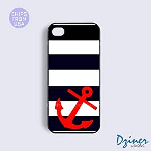 iPhone 5 5s Case - Blue White Red Anchor iPhone Cover