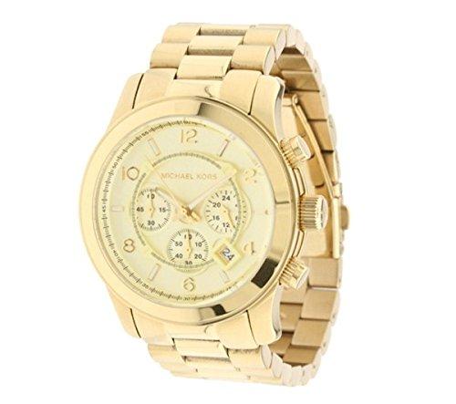 Mens Gold Tone Wrist Watch (Michael Kors MK8077 Gold-Tone Men's Watch)