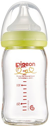 Pigeon breast milk realize bottles heat-resistant glass ligh