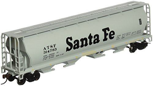 (Bachmann Trains Santa Fe 4 Bay Cylindrical Grain Hopper)