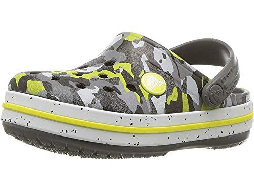 crocs unisex Crocband Camo Speck Clog K graphite/camo 8 M US ()