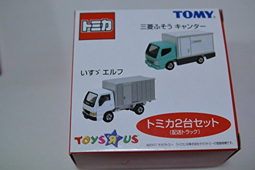 三菱ふそう キャンター&1/68 いすゞ エルフ 配送トラック2台セット 「トミカ」 トイザらス限定