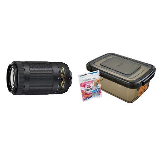 Nikon 望遠ズームレンズ AF-P DX NIKKOR 70-300mm f/4.5-6.3G ED VR ニコンDXフォーマット専用+HAKUBA ドライボックスNEO 5.5L スモーク 防湿庫 KMC-39   B07L67XMBM