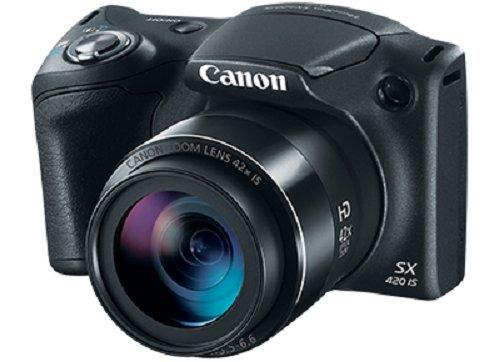 Cámara digital Canon PowerShot SX420 con zoom óptico de 42x - Wi-Fi y NFC habilitados (negro)