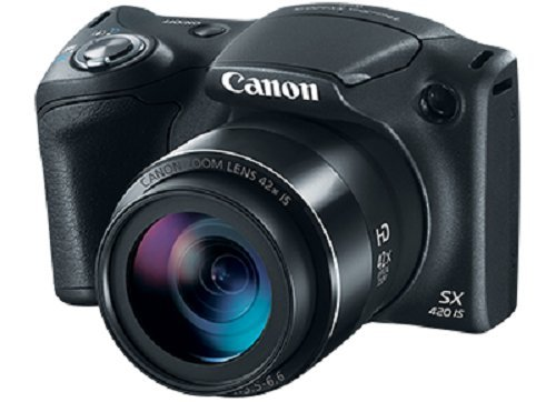 Canon PowerShot SX420 IS - Cámara con 42x Optical Zoom y Built-In Wi-Fi, Negro