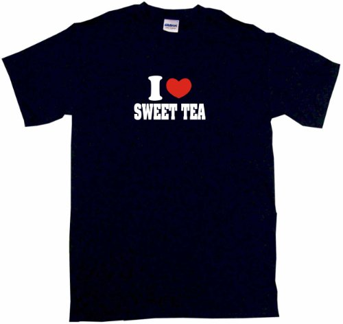 I Heart Love Sweet Tea Little Boy's Kids Tee Shirt 4T-Black (Hickory Tea)