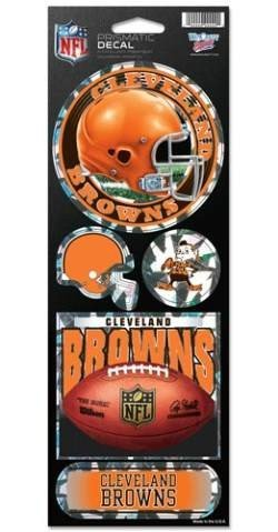 NFL Cleveland Browns Prismatic Stickers, Team Color, One Size