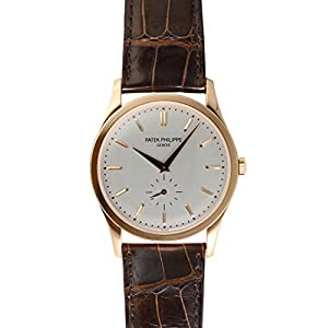 41kpkjxMFhL. SS300  - Patek Philippe Calatrava Automatic White Dial 18 kt Rose Gold Mens Watch 5196R