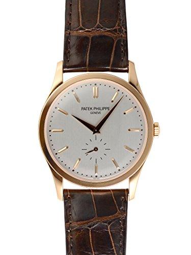 Patek Philippe Calatrava Automatic White Dial 18 kt Rose Gold Mens Watch 5196R (Philippe Dial Patek Gold)