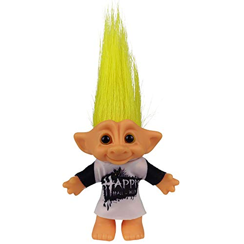 """Yintlilocn Lucky Troll Dolls,Vintage Troll Dolls Chromatic Adorable for Collections, School Project, Arts and Crafts, Party Favors - 7.5"""" Tall Yellow Hairs (Include The Length of Hair)"""