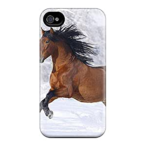 New Style SpecialUandMe Hard Case Cover For Iphone 4/4s- Winter Horse