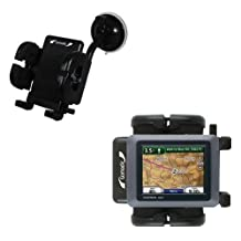 Windshield Vehicle Mount Cradle for the Garmin Nuvi 500 - Flexible Gooseneck Holder with Suction Cup for Car / Auto. Lifetime Warranty