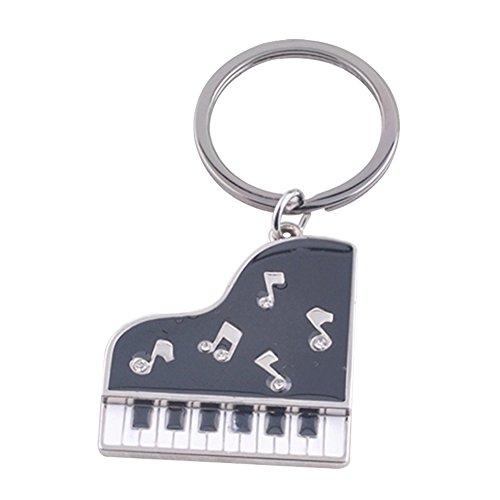 Fablcrew Keychain for Men Drilling Epoxy Piano Keychain Keychain Charm Pendant Size 9×3cm