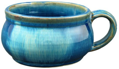 Set of (2) Two - PRADO STONEWARE COLLECTION - Stacking/Stackable Soup, Chili, Stews Cups/Mugs / Bowls - Royal Blue