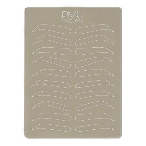 PMU Cosmopolitan Pack | Microblading Practice Skin Double-Sided | Professional Realistic Hairstroke Tattoo Latex | Special Variety Eyebrow Designs For Cosmetic Tattooing (White - 10)
