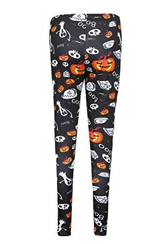 Pantaloni Donne Magre Le Halloween Nimpansa Impronte Lungo Black Casaul ftRZqnT