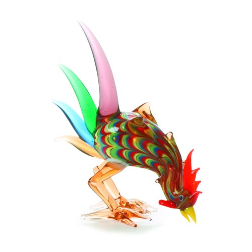 Fitz and Floyd Glass Menagerie Spike Tail Rooster