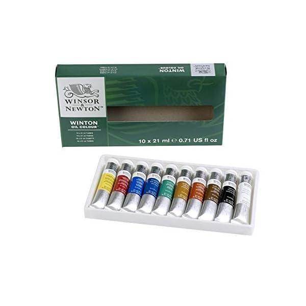 Winsor-Newton-Winton-Oil-Colour-Paint-Basic-Set-Ten-21ml-Tubes
