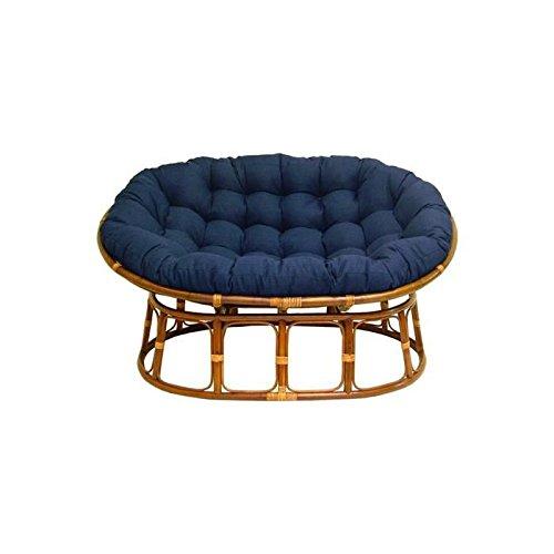 International Caravan Double Papasan Chair with Fabric Cushion