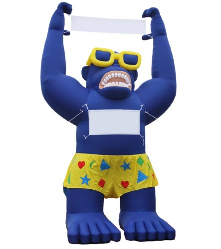 LookOurWay Giant Inflatable Advertising 20ft Tall Blue Sale Gorilla (Inflatable Gorilla)