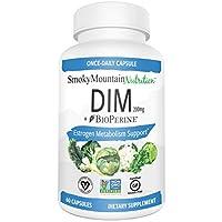 Suplemento DIM 200mg - DIM Diindolylmethane Plus BioPerine Suministro de DIM para 60 días para el equilibrio de estrógenos, alivio de la menopausia hormonal, tratamiento del acné, PCOS, culturismo