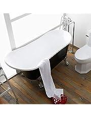 Acrylic Clawfoot Bathtub Elegant, Traditional Oval Slipper Tub with Claw Feet for Bathroom