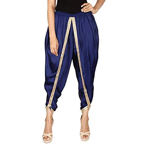 a4c41e5c6f3 Navy Blue Color Satin Silk Dhoti Pant