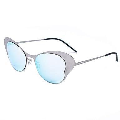 italia independent 0216-075-075 Gafas de Sol, Plateado, 50 ...